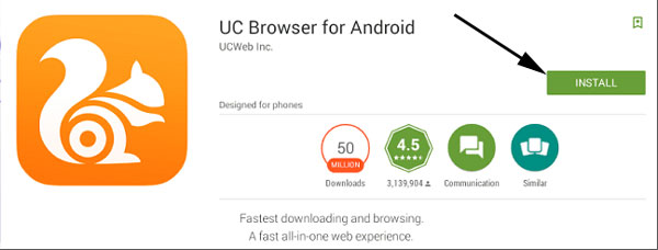 Install Uc Browser for Pc on Windows