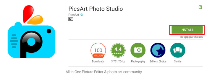 Picsart for Pc on bluestacks
