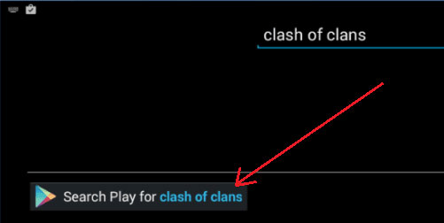 Search for Clash of Cans in Bluestacks