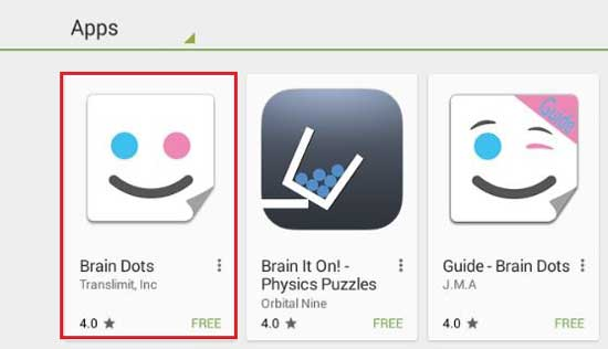 Searchplay for brain dots