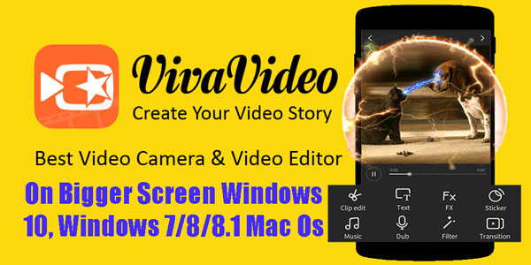 Free Download Vivavideo Pc version for Windows 10,7/8/8 1 Mac Os