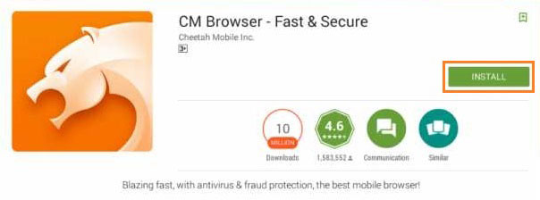 Install Cm browser for Pc
