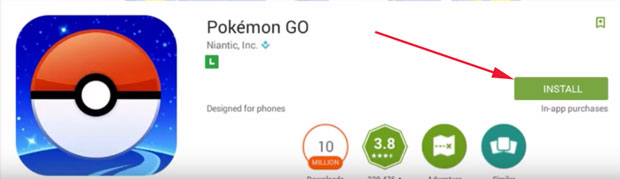 Download and Install Pokemon go for pc