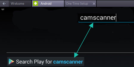 Search camscanner for pc in Bluestacks